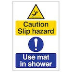 Caution Slip Hazard - Use Mat