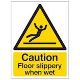 Eco-Friendly Caution Floor Slippery When Wet