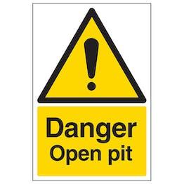 Danger Open Pit - Portrait
