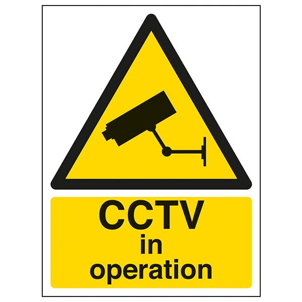 CCTV In Operation - Window Sticker