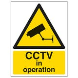 CCTV In Operation - Window Sticker