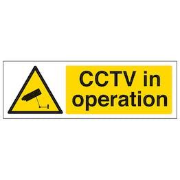 CCTV In Operation - Landscape Window Sticker