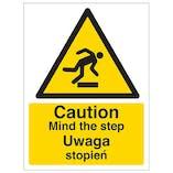 English/Polish - Caution Mind The Step