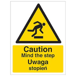 English/Polish - Caution Mind The Step