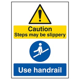 Caution Steps May Be Slippery / Use Handrail