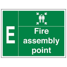 Fire Assembly Point with Family and Letter E