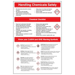 Handling Chemicals Safety Poster
