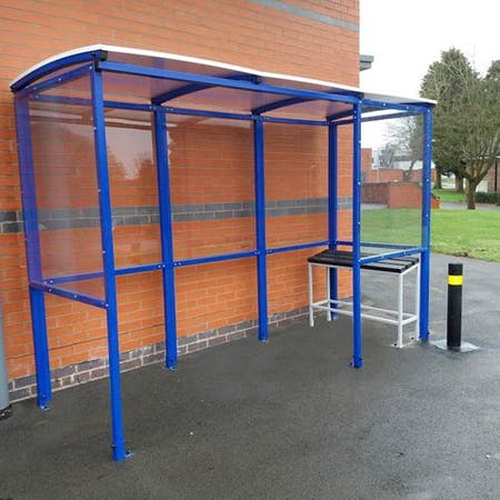 Corfe 4-sided Smoking Shelter - Clear Roof