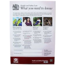 HSE Health and Safety Law Poster