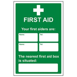 Your First Aiders Are / Nearest First Aid Box