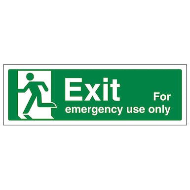 Exit For Emergency Use Only Left - Landscape