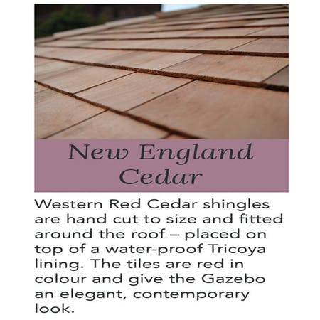 Purbeck Gazebo - New England Cedar Roof
