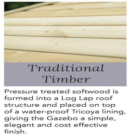 Studland Gazebo - Traditional Timber Roof