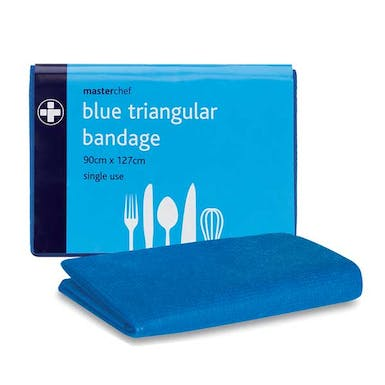 Blue Triangular Bandages