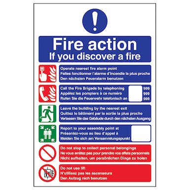 Multilingual Fire Action - Dial 999