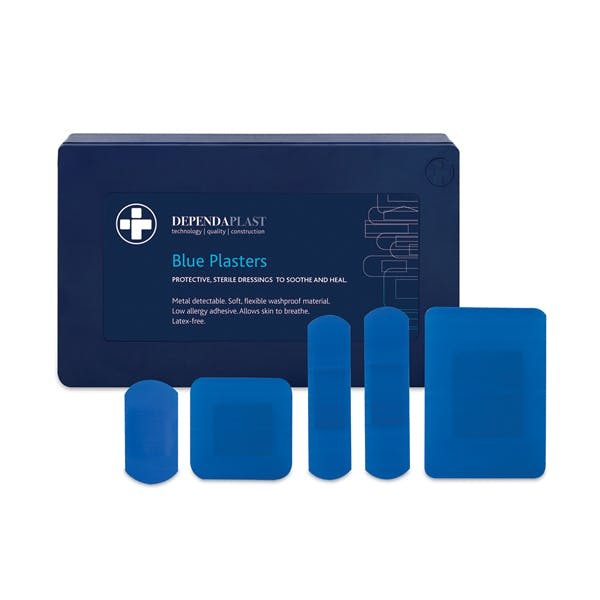 Blue Plasters in Plastic Cases