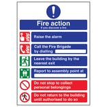 A4 - 6 Point Fire Action - If You Discover A Fire
