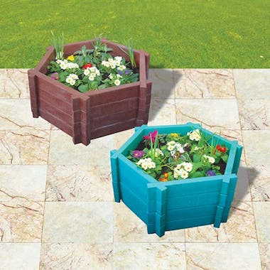 Hexagonal Planters - With Base - 500mm