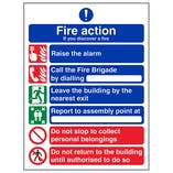 6 Point Fire Action - If You Discover A Fire - Polycarbonate