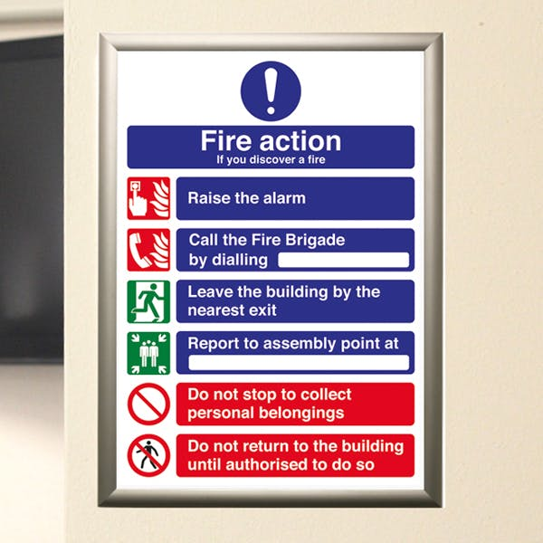 A4 Fire Action Notices