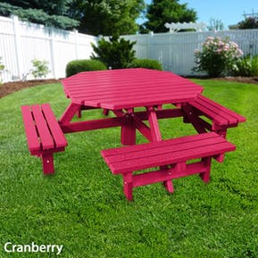 Octagonal Picnic Table - Solid Colour