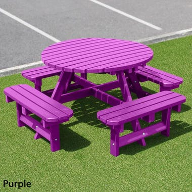Round Picnic Table - Solid Colour