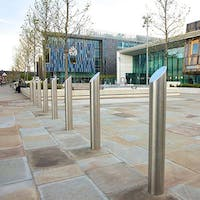 Ornamental Stainless Steel Mitre Top Bollards