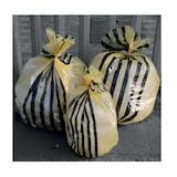 Tiger Stripe Yellow Clinical Waste Sacks