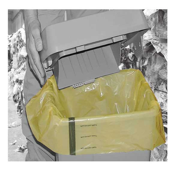 Tiger Stripe Yellow Clinical Waste Sacks