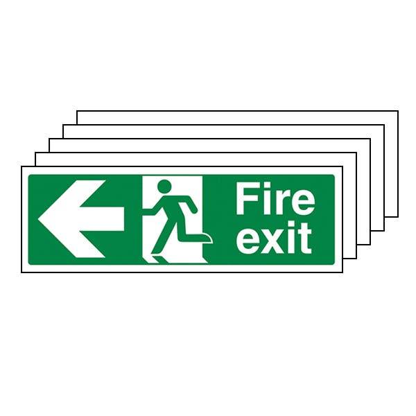 5-Pack Fire Safety Signs