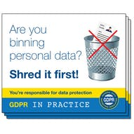 GDPR In Practice Stickers - For Bins