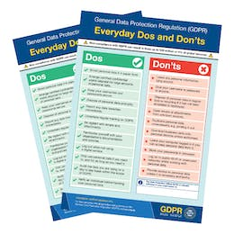 GDPR Compliance Posters, Handouts & Stickers