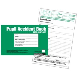 GDPR Compliant Pupil Accident Book