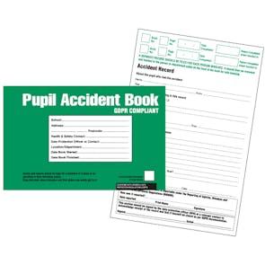 GDPR Compliant Pupil Accident Book