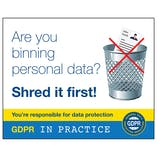 GDPR Sticker - Stop! Are You Binning Personal Data