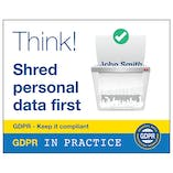GDPR Sticker - Think! Shred Personal Data First
