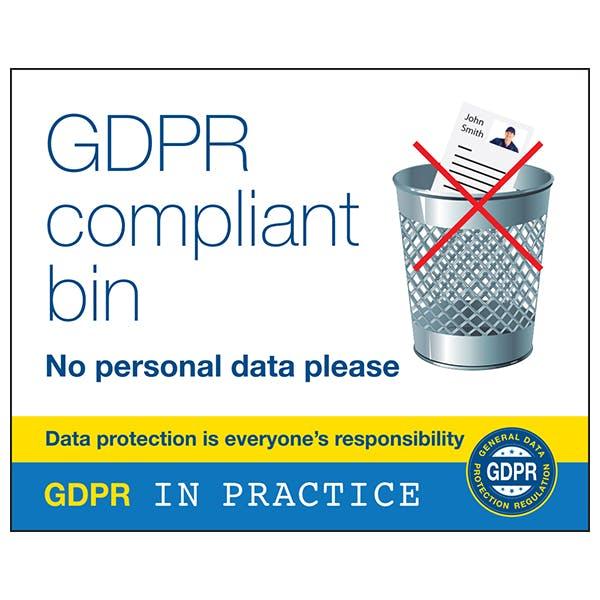 GDPR Compliant Bin - No Personal Data