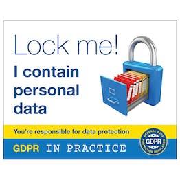 GDPR Sticker - Lock Me! I Contain Personal Data