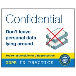 GDPR Sticker - Confidential Don't Leave Personal Data Lying Around