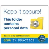 GDPR Sticker - Keep It Secure! This Folder Contains