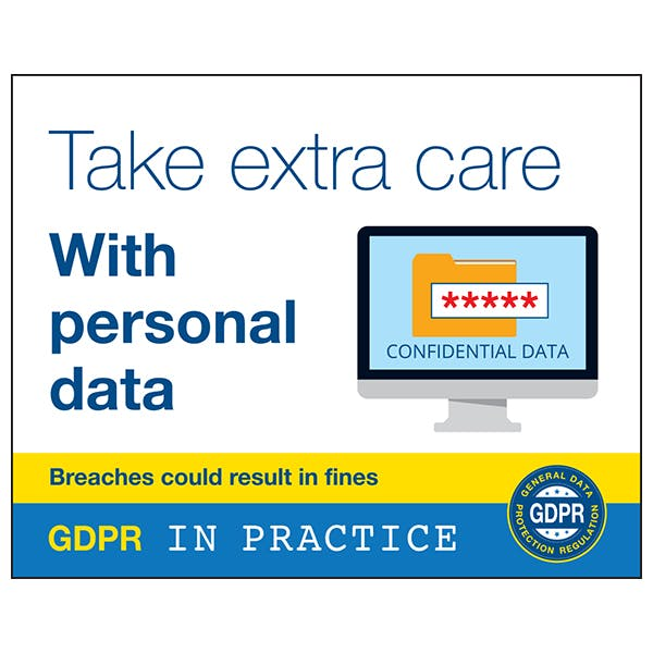 Take Extra Care With Personal Data