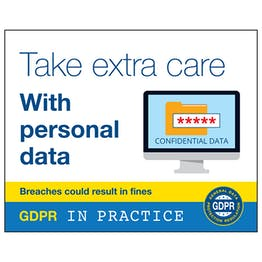 GDPR Sticker - Take Extra Care With Personal Data