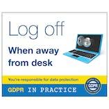 GDPR Sticker - Log Off When Away From Desk