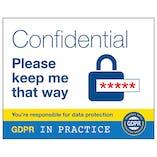GDPR Sticker - Confidential Keep Me That Way