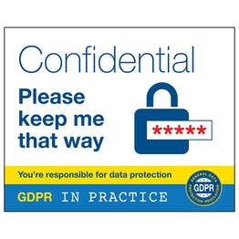 GDPR Sticker - Confidential Keep Me That Way