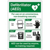 A3 AED Poster