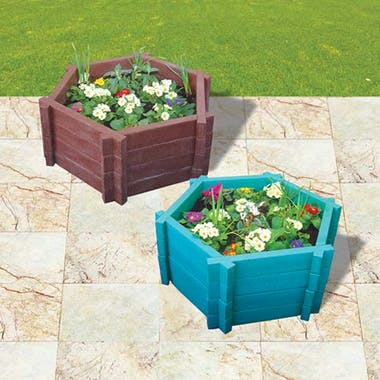 Hexagonal Planters - With Base - 1500mm