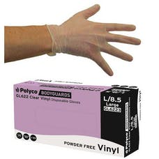 Bodyguards Clear Powder Free Vinyl Gloves