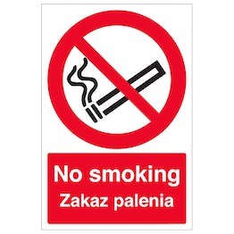 English/Polish - No Smoking
