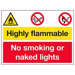 Highly Flammable / No Smoking / Naked Lights